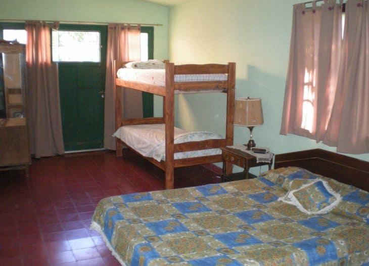 Vista de las camas en Cuarto Verde